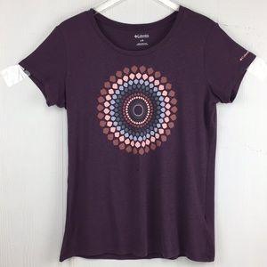 Columbia Medallion Short sleeve T-shirt purple Lrg
